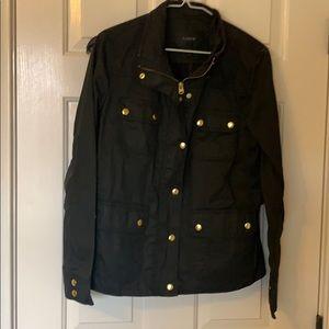 Black J Crew Downtown Field Jacket